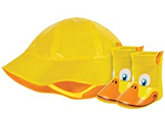 Yellow Duck Rain Hat & Boot (Infant 1-3)