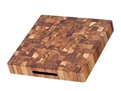 Teakhaus Square Butcher Block With Hand Grips
