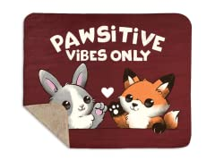 Pawsitive Vibes Sherpa Blanket