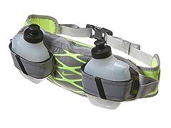 2 Bottle Waistpack -  Silver/Volt