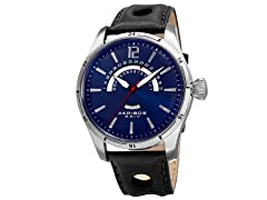 Akribos XXIV Men's Retrograde Multifunction Blue Watch