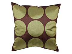 Polka Dot Green 18-inch Pillow