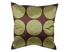 Polka Dot Green 18-inch Pillow
