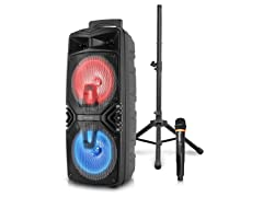 """Double 8"""" Speaker With Tripod"""