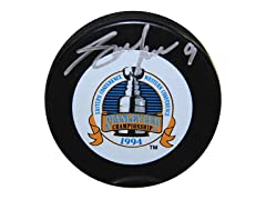 Adam Graves Rangers '94 SC Signed Puck