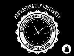 Procrastination University Zip Tote