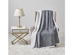 Embossed Reversible Throw Blanket
