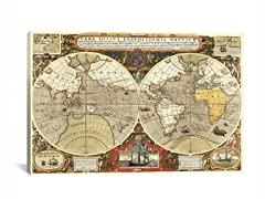 Historical Map of the World 1595 26x18