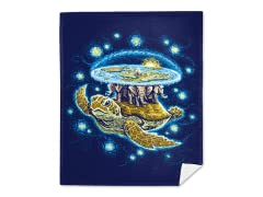 Endless Starry Night Mink Fleece Blanket