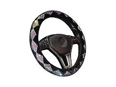 Zone Tech Velvet Bling Steering Wheel Cover