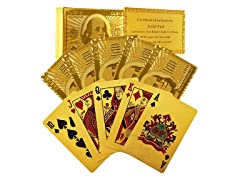 Set of 2 - 24k Gold Playing Cards