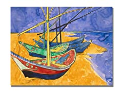 Van Gogh Fishing Boats on the Beach (2 Sizes)
