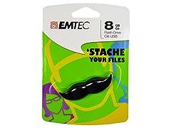 EMTEC Mustache 8GB USB Drive - Black