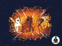 Four Little Ponies of the Apocalypse LW Zip Hoodie