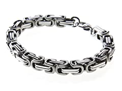 Stainless Steel Byzantine Style Bracelet