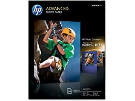 HP Glossy Advanced Photo Paper, 50 Sheets