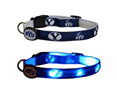 "Dog-E-Glow Brigham Young University ""Cougars"" Collar"