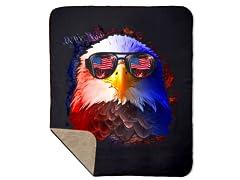 American Dream Sherpa Blanket