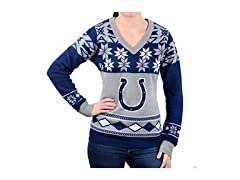 NFL Women's V-Neck Sweater, Indianapolis Colts, X-Large