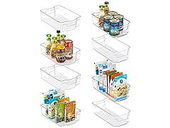 Vtopmart  Refrigerator Organizer Bins, 4 Large & 4 Medium