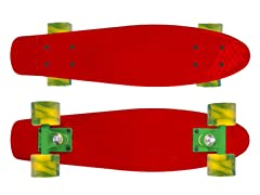Mayhem Red Deck with Swirl Wheels