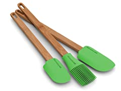 TruBamboo 3pc Silicone Utensil Set