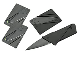 Carbon Fiber Credit Card Knives, 4 Pack
