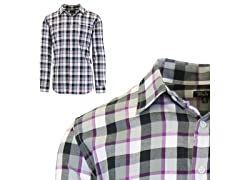 Mens Plaid Dress Shirts W Chest Pocket