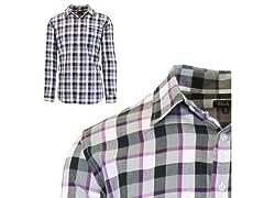 Mens Plaid Dress Shirts W Chest Pocket