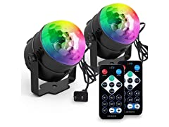 Yoozon Party Disco Lights with Remote 2-PACK