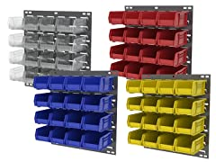 Akro-Mils Louvered Panel & 16 Bin Set