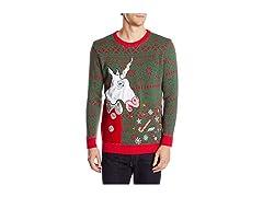 Unicorn Vomit Ugly Christmas Sweater