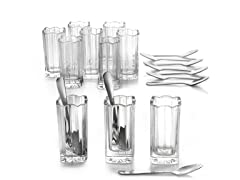 Alexandria Taster Shot Glass & Spoon Set