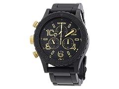 Nixon  Chronograph Matte Black/Gold Unisex Watch