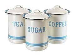 Jamie Oliver Coffee, Tea, & Sugar Tin Set