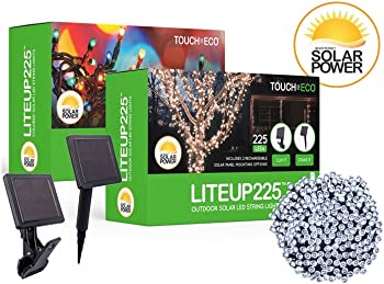 Touch Of ECO LITEUP225 Solar Powered LED String Lights