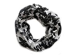 2-Pack Black & White Infinity Scarves