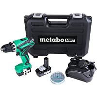 Metabo HPT Cordless Drill 12V Peak w/2-12V Batteries 7Pc Bit Set