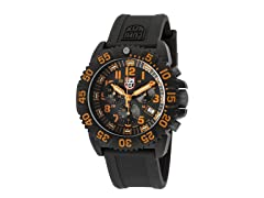 Men's Chrono Orange w/ Silicone Band
