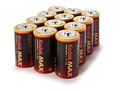 Kodak MAX C Alkaline Batteries- 12 Pack