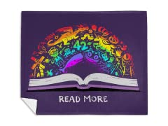 Read A Rainbow Mink Fleece Blanket