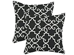 Woburn Slate 17x17 Pillows-S/2
