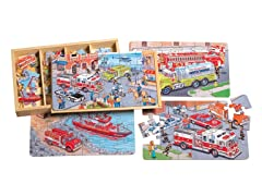 Emergency Vehicles 4 Pack Puzzles
