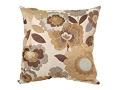 Acadia Modern Floral 25-inch Pillow