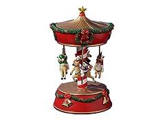 Xmas Snowmen & Reindeer Carousel
