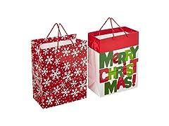 Hallmark Large Christmas Gift Bags, 2 Pk