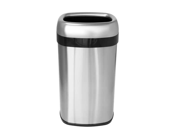 itouchless 16 gallon oval open top trash can. Black Bedroom Furniture Sets. Home Design Ideas