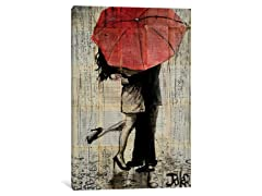 iCanvas Red Umbrella by Loui Jover Canvas Print