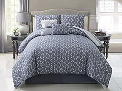 Hawthorne 5pc Reversible Comforter Set - 2 Sizes