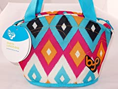 BuiltNY Gusto Lunch Bag-Diamond IKAT